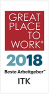 Great Place To Work - 2018 Bester Arbeitgeber ITK