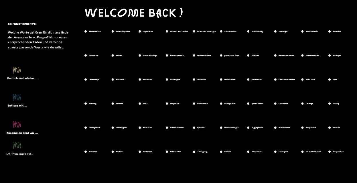 Begriffe Stimmungsbarometer Welcome Back